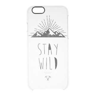 STAY WILD CLEAR iPhone 6/6S CASE