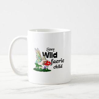 Stay Wild Faerie Child Faerie And Mushroom Mug