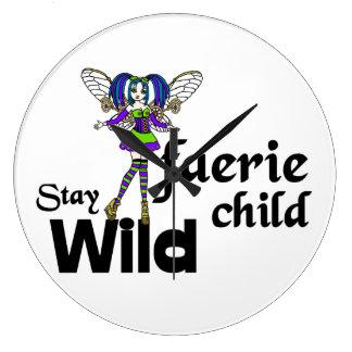 Stay Wild Faerie Child Steampunk Clock