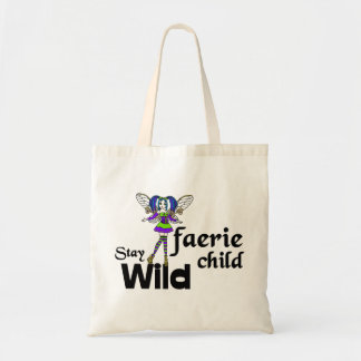 Stay Wild Faerie Child Steampunk Tote Bag