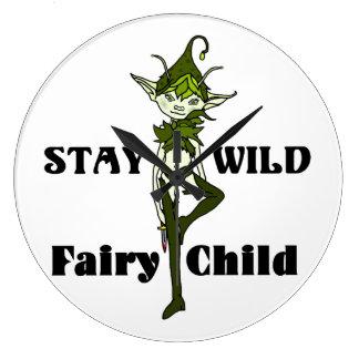 Stay Wild Faerie Child Wall Clock