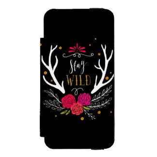 Stay Wild Incipio Watson™ iPhone 5 Wallet Case