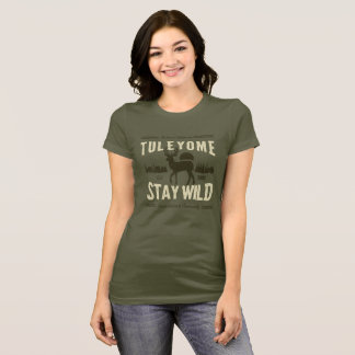 Stay Wild, Women's Bella Jersey T, Army T-Shirt