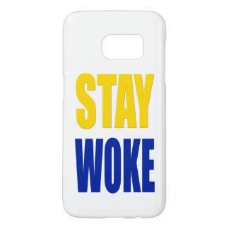 Stay Woke Samsung Case - White