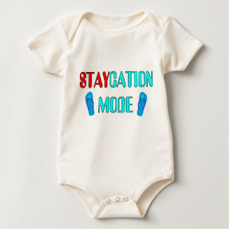 Staycation Mode - Funny Baby Clothes Baby Bodysuit