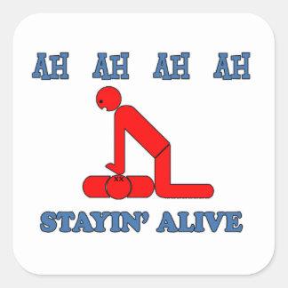 Stayin' Alive Square Sticker