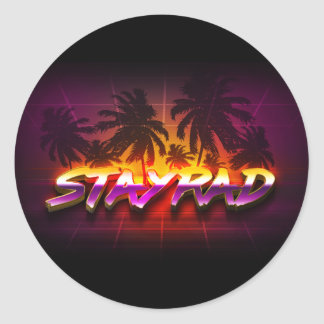 StayRad 80s Classic Round Sticker