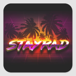 StayRad 80s Square Sticker