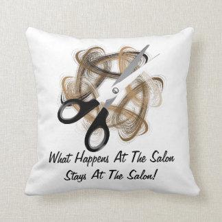 Stays At Salon Throw Pillow