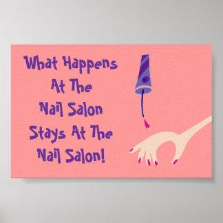 Stays @ Nail Salon Poster