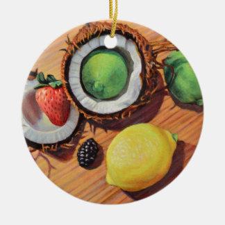 StBerry Lime Lemon Coconut Unity Ceramic Ornament