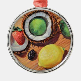 StBerry Lime Lemon Coconut Unity Metal Ornament