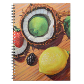 StBerry Lime Lemon Coconut Unity Spiral Notebook