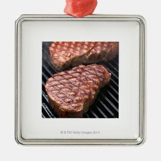Steak 2 metal ornament