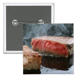 Steak 3 2 inch square button