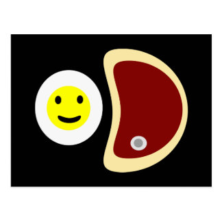 Steak and Eggs Postcard