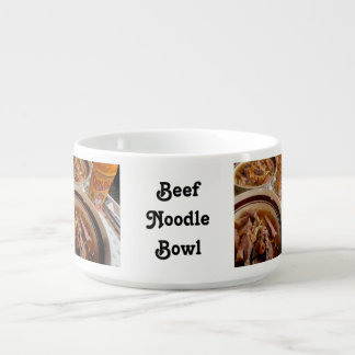 Steak, Mushrooms, Noodles Bowl