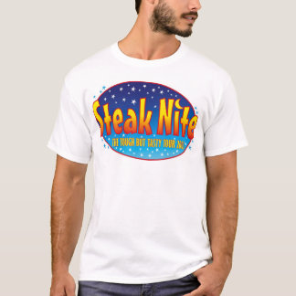 Steak Nite Tour logo front / blank back T-Shirt
