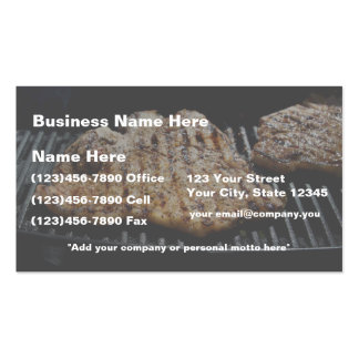 Steak on Grill - What's for  Dinner Business Card Template
