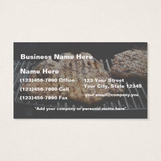 Steak on Grill - What's for  Dinner Business Card