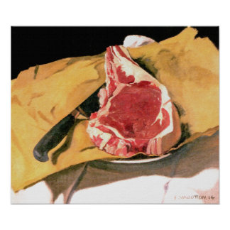 Steak Painting - Vintage Art by Felix Vallotton Poster