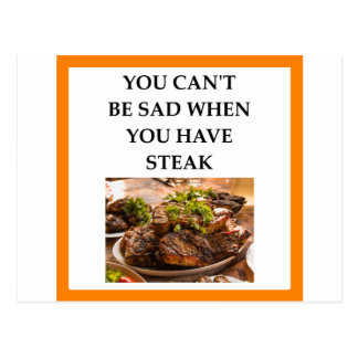 STEAK POSTCARD