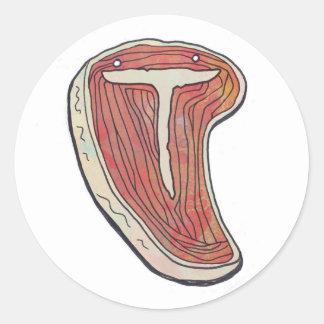 steak round sticker