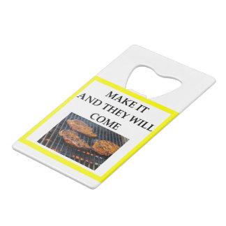 steak wallet bottle opener