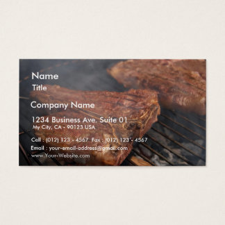 Steaks Grilling Barbecue Grills Meat Business Card