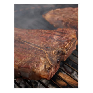 Steaks Grilling Barbecue Grills Meat Postcard