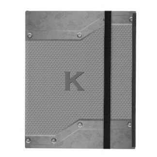 Steal and Graphite Look iPad Folio Case