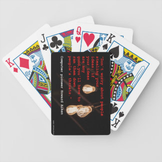 Stealing Ideas Bicycle Playing Cards