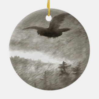 Stealth And Surprise Of The Night Owl Ceramic Ornament