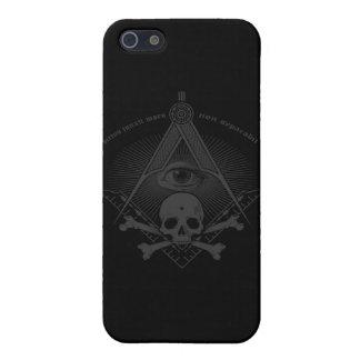 Stealth Freemason Skull & Cross Bones iPhone 5 Covers