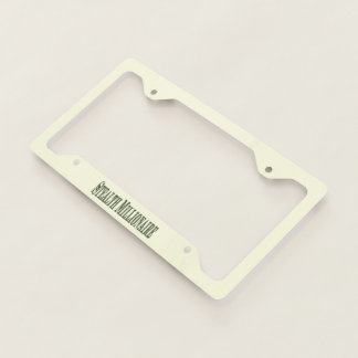 Stealth Millionaire License Plate Frame