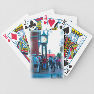 Steam Clock Bicycle Playing Cards