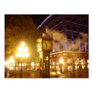 Steam Clock, Vancouver, BC Postcard
