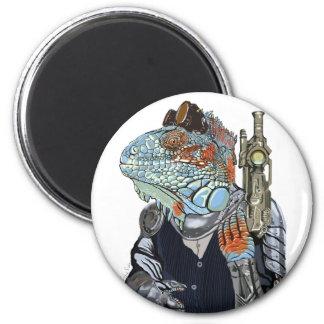 Steam Dragon Sheriff 2 Inch Round Magnet
