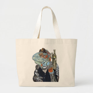 Steam Dragon Sheriff Large Tote Bag