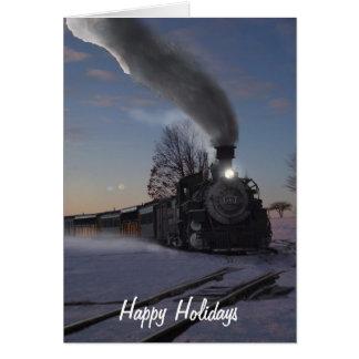 Steam Engine 481 Christmas Card