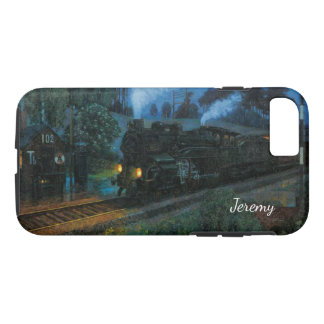 Steam Engine at Night iPhone 7 Case