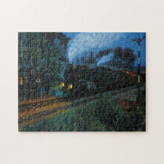 Steam Engine at Night Jigsaw Puzzle