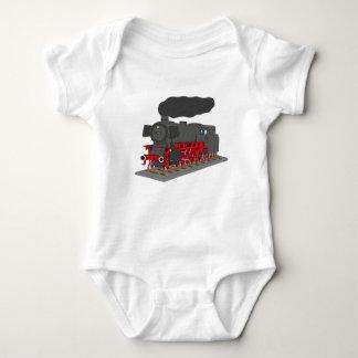 Steam engine baby bodysuit