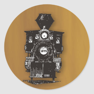 Steam Engine Classic Round Sticker