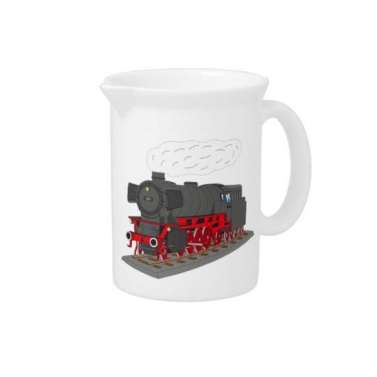 Steam engine drink pitcher