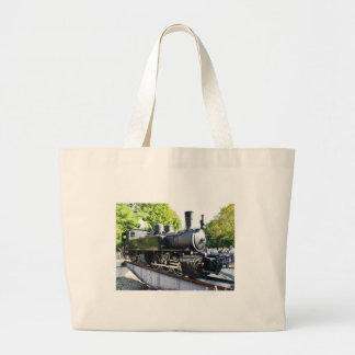Steam engine, France Large Tote Bag