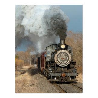 Steam Engine in the Sun Postcard