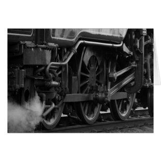 Steam Engine Locomotive Train Gifts Card