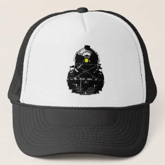 Steam Engine Locomotive Train Trucker Hat