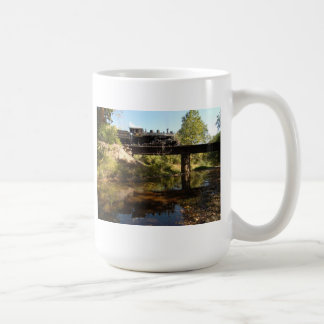 Steam Engine on Trestle Coffee Mug